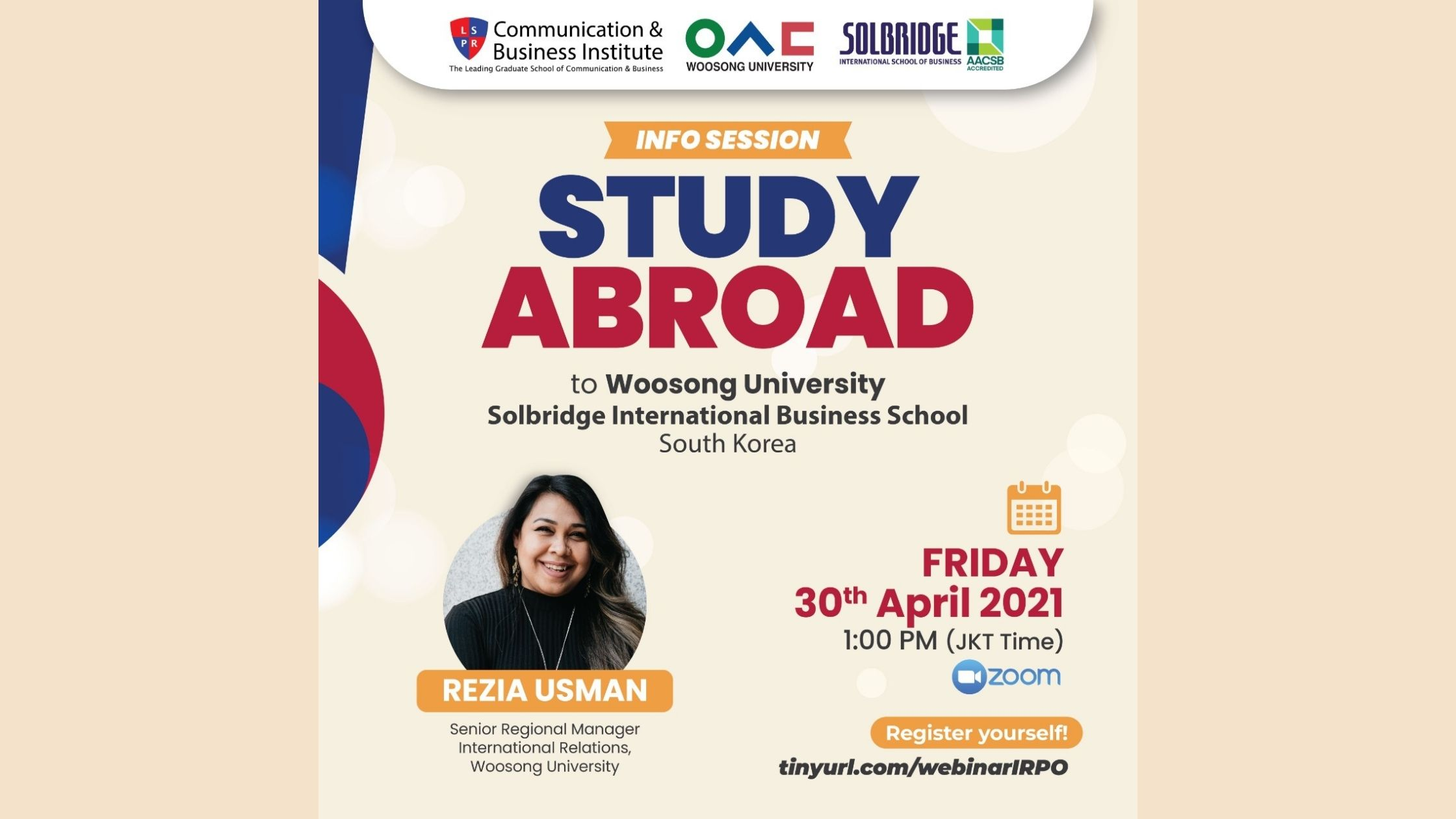 [UPDATE] Info Session with Woosong University