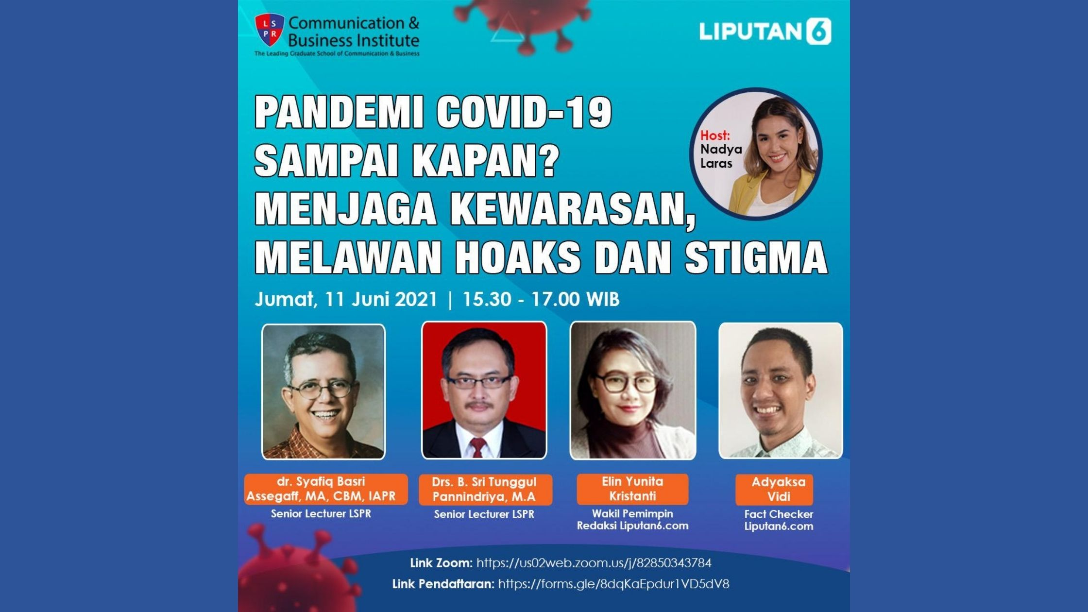 """[UPDATE] Webinar """"How long will the COVID-19 pandemic last? Keeping Sanity, Fighting Hoax and Stigma"""""""
