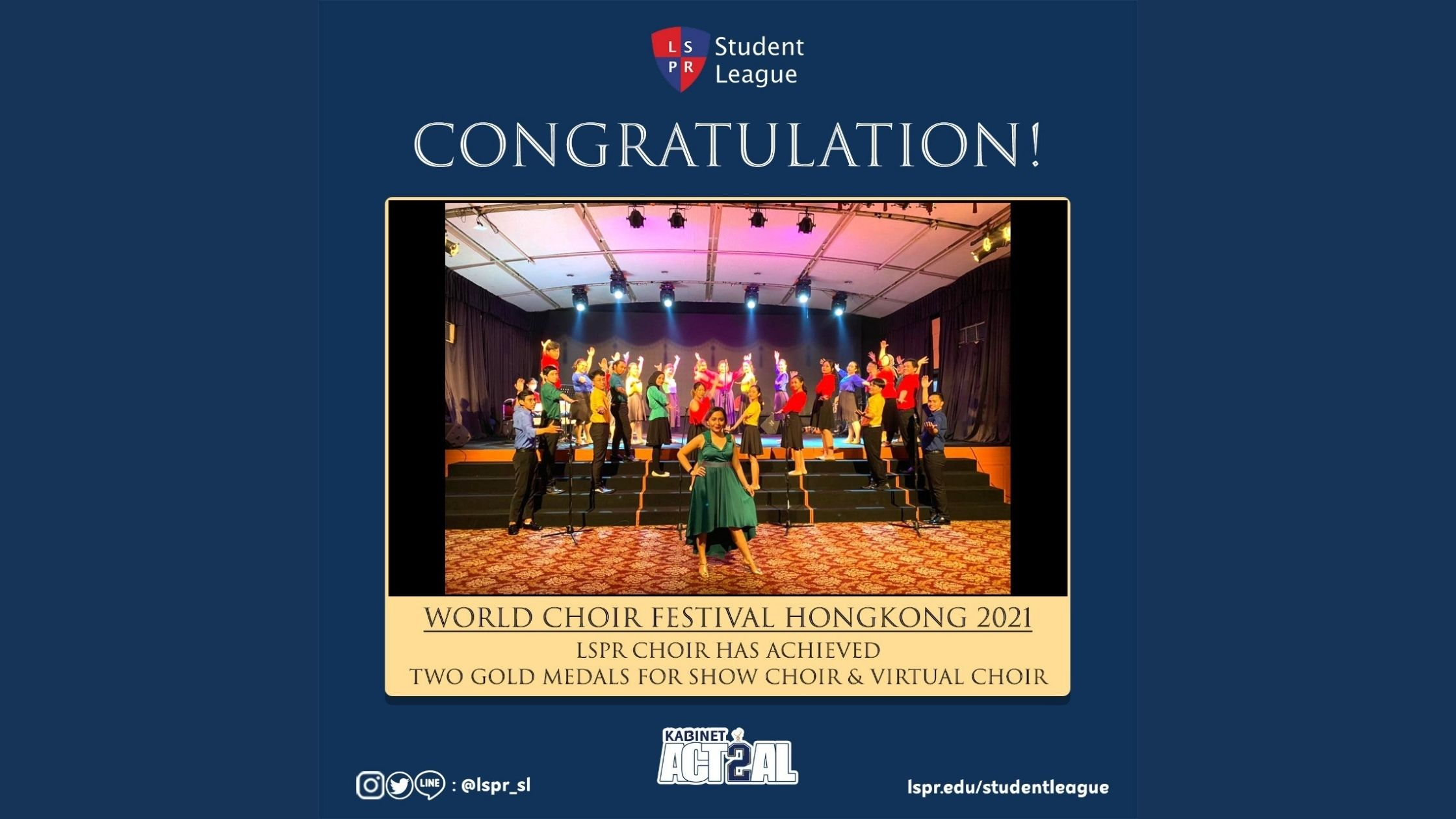 [HEADLINE] LSPR Choir Won Competition World Choir Festival 2021