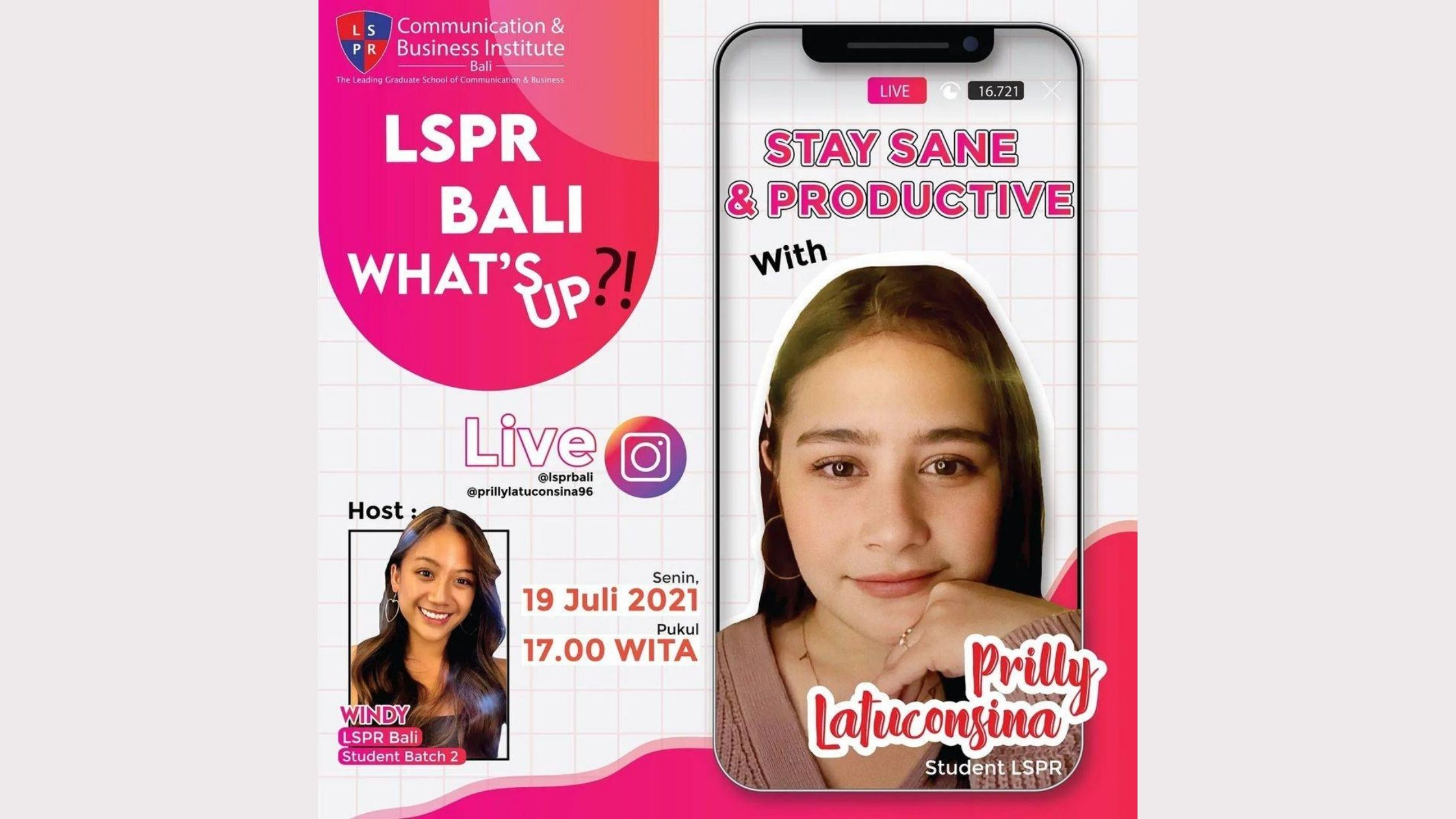 """[UPDATE] LSPR Bali What's Up #2 """"Stay Sane and Productive with Prilly Latuconsina"""""""